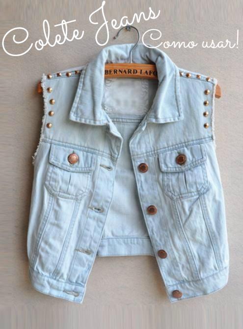 colete jeans, como usar!